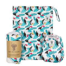 Load image into Gallery viewer, Baby & Toddler Swim Bundle- Toucan Aqua