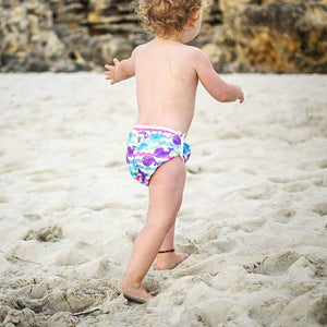 Reusable Swim Diaper- Purple Whale