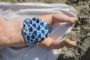 Reusable Swim Diaper Bundle - Set of 2 - Blue Whales