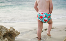Load image into Gallery viewer, Reusable Swim Diaper Bundle- Set of 2 - Flamingo & Fox