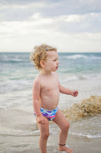Load image into Gallery viewer, Reusable Swim Diaper & Waterproof Wet Bag- Purple Whale