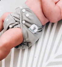 Load image into Gallery viewer, Modern Cloth Diaper (Pocket-OSFM)- NEWBORN 0-3months- Slate Grey