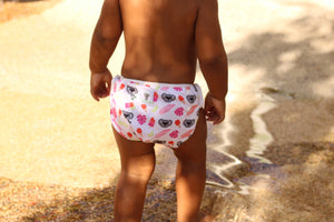 Reusable Swim Diaper- Pink Koala LARGE