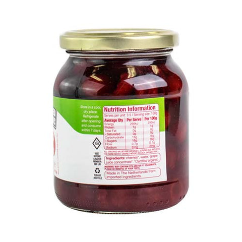 Absolute Organic Cherries In Juice 350g ACO