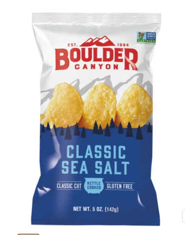 Boulder Canyon Kettle Style Potato Chips 141.8g, Classic Sea Salt Flavour