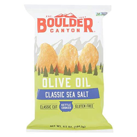 Boulder Canyon Kettle Style Potato Chips 141.8g, Olive Oil Sea Salt Classic Flavour