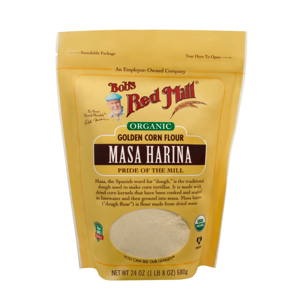 Bob's Red Mill Masa Harina Golden Corn Flour 680g Organic
