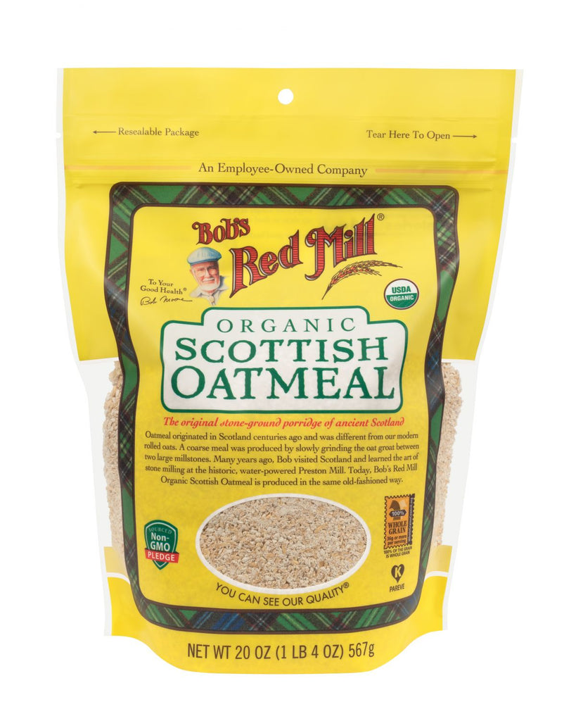 Bob's Red Mill Scottish Oatmeal 566g Organic