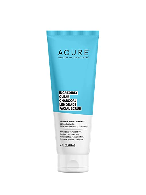 Acure Incredibly Clear Charcoal Facial Scrub 118ml