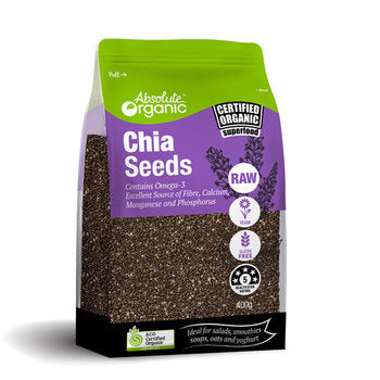 Absolute Organic Black Chia Seeds Various Sizes ACO