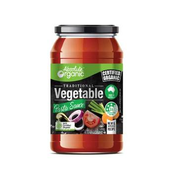 Absolute Organic Pasta Sauce Vegetable 500g ACO