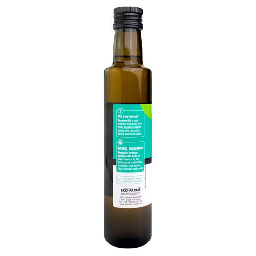 Absolute Organic Roasted Sesame Oil 250ml ACO