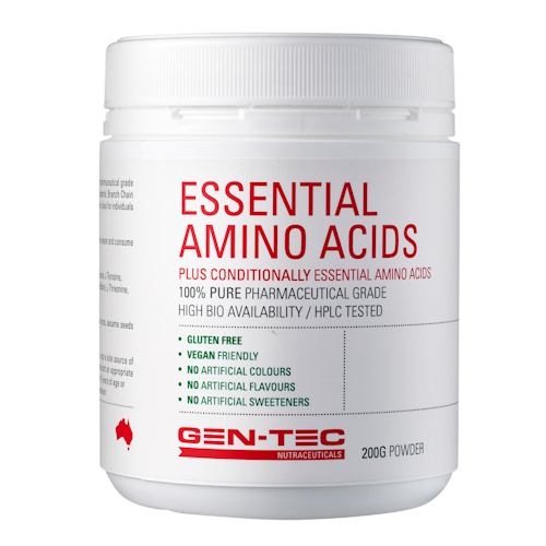 Gen-Tec Nutrition Essential Amino Acids 200g Or 500g Powder