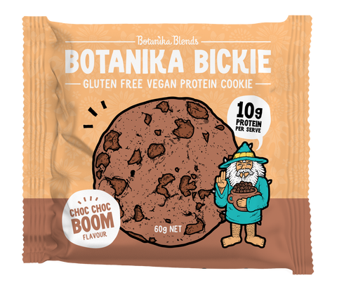 Botanika Blends Botanika Bickie Vegan Protein Cookie Single 60g  Or A Box Of 12 X 60g, Choc Choc Boom Flavour