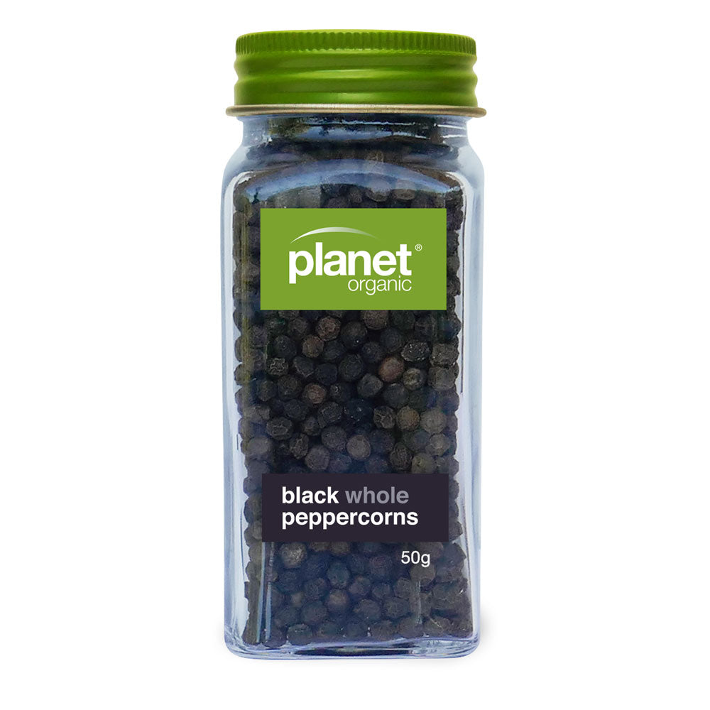 Planet Organic Black Whole Peppercorns 50g