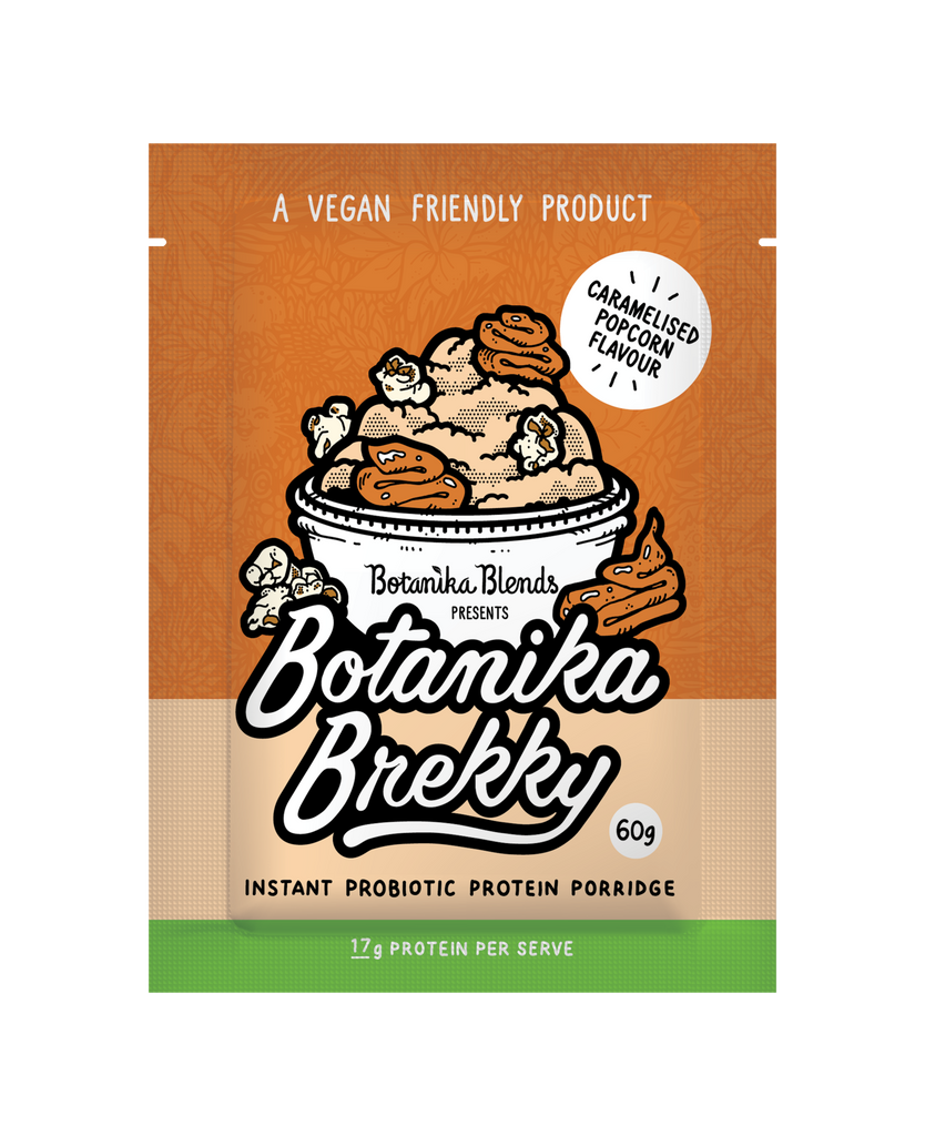 Botanika Blends Botanika Brekky Probiotic Porridge 60g Or 1Kg Caramelised Popcorn Flavour