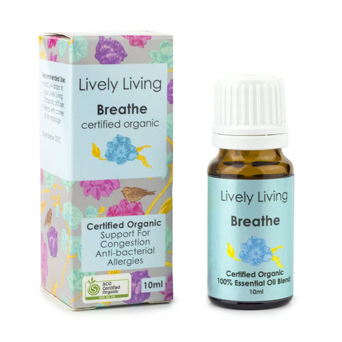 Lively Living Breathe Organic Essential Oil Blend 10ml