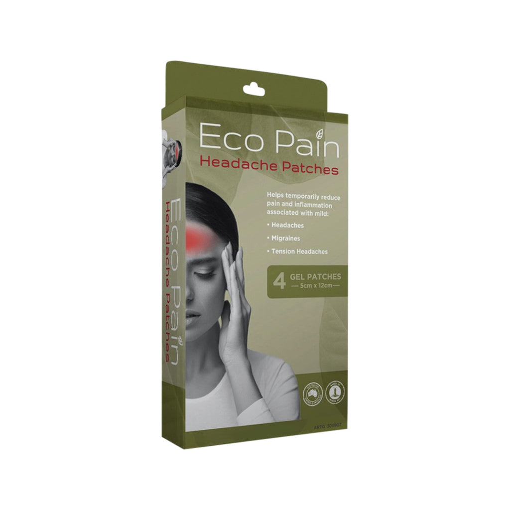 Byron Naturals Eco Pain Patches Headache (Gel Patches) x 4 Pack