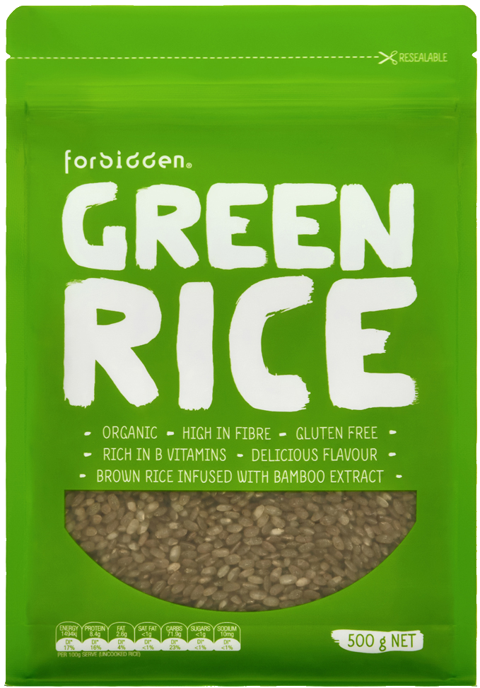 Forbidden Green Rice Infused With Bamboo Extract 500g, Organic