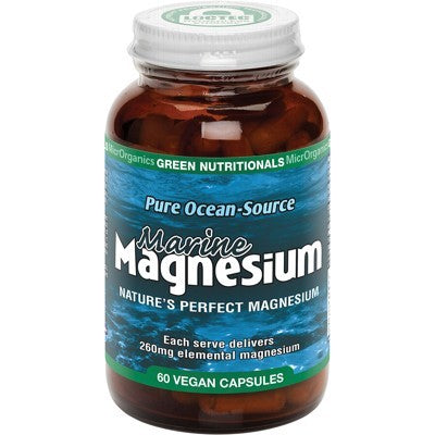 Green Nutritionals Marine Magnesium Vegan Capsules (260mg) Various Quantities