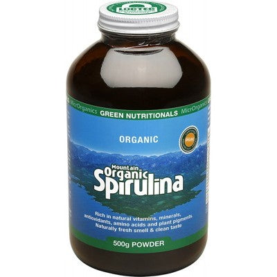 Green Nutritionals Mountain Organic Spirulina Powder Various Quantities