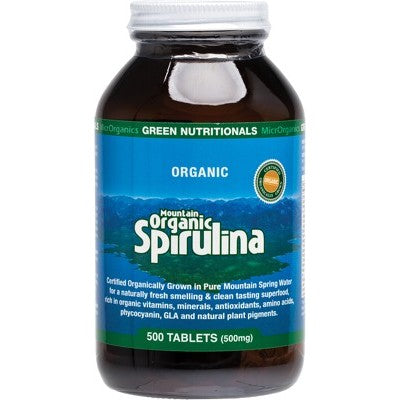 Green Nutritionals Mountain Organic Spirulina (500mg)Tablets Various Quantities