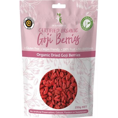 Dr Superfoods Dried Goji Berries 250g Or 500g, Certified Organic