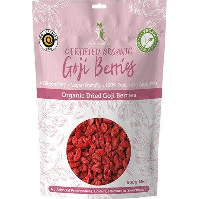 Dr Superfoods Dried Goji Berries Certified Organic Various Quantities