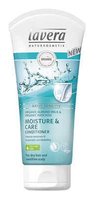 Lavera Conditioner 200ml, Basis Sensitiv Moisture & Care With Avocado & Almond Milk