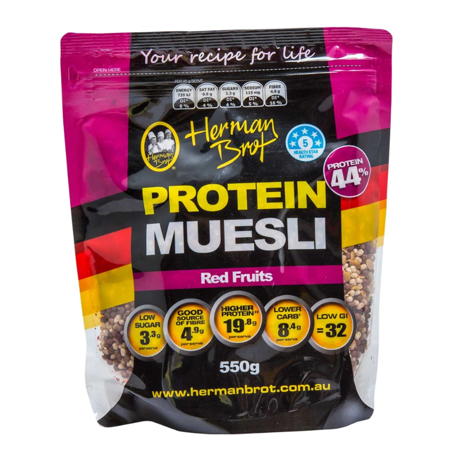 Herman Brot Red Fruits Protein Muesli 550g
