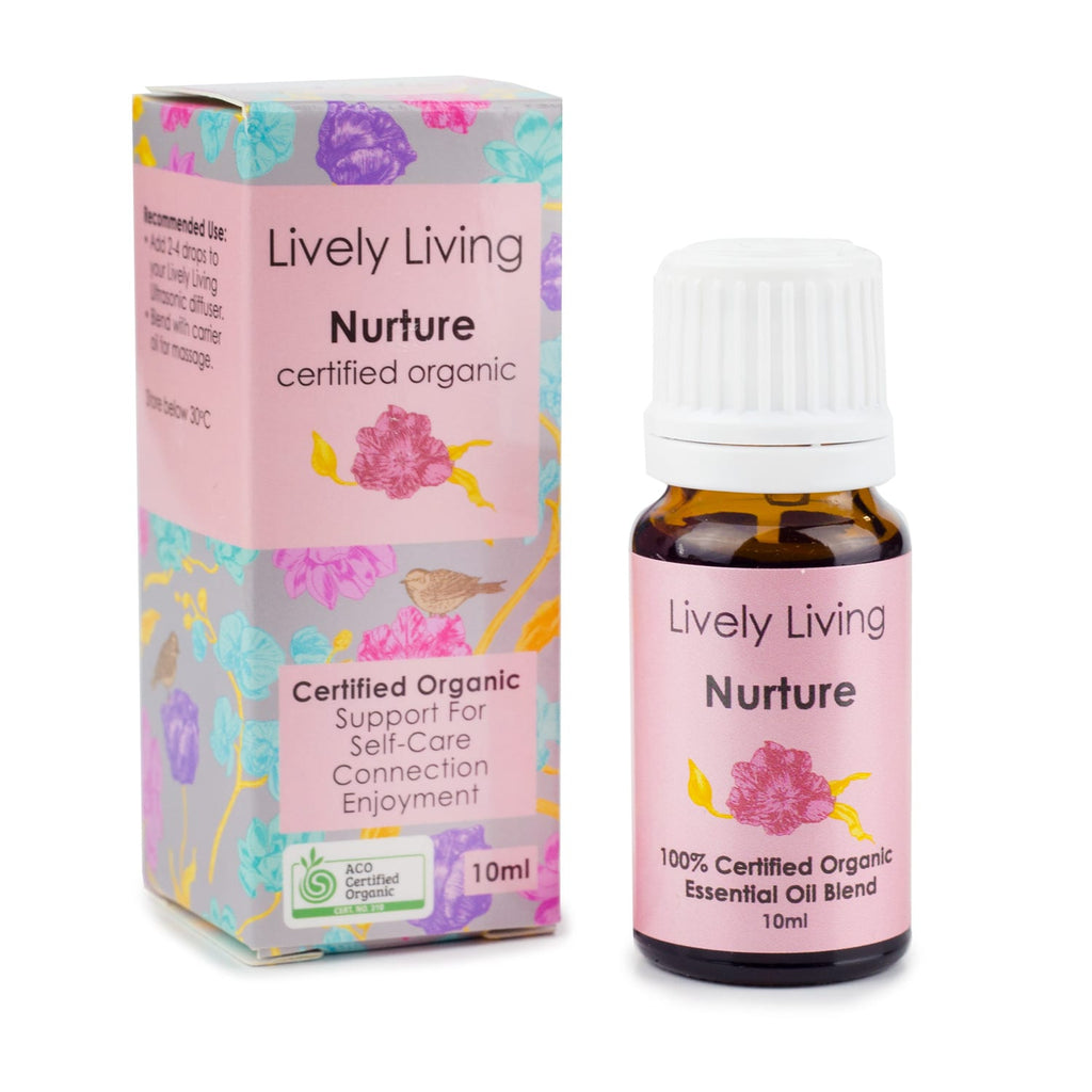 Lively Living Nurture Organic Essential Oil Blend 10ml