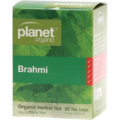 Planet Organic Brahmi 25 Herbal Tea Bags Caffeine Free