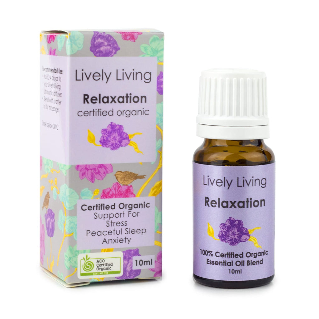 Lively Living Relaxation Organic Essential Oil Blend 10ml