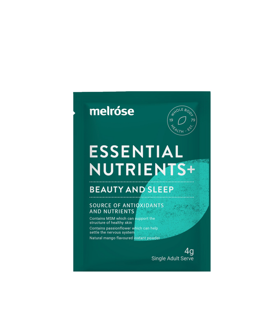 Melrose Essential Nutrients + Beauty and Sleep Organic 30x4g sachets