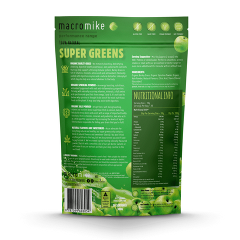 Macro Mike Performance 300g, Apple Super Greens