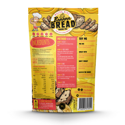 Macro Mike Almond Protein Bread 300g, Banana Flavour