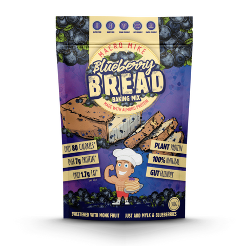 Macro Mike Almond Protein Bread 300g, Blueberry Flavour