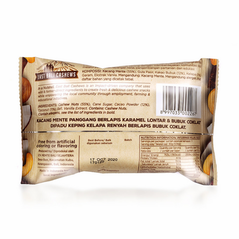 East Bali Cashews Choco-lah!, 30g Single Or 10 x 30g Box, Coco Chips Flavour