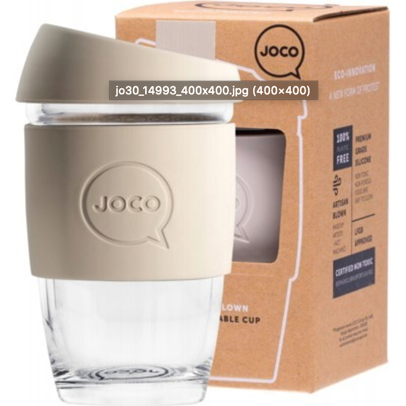 Joco Reusable Glass Cup 6oz/177ml