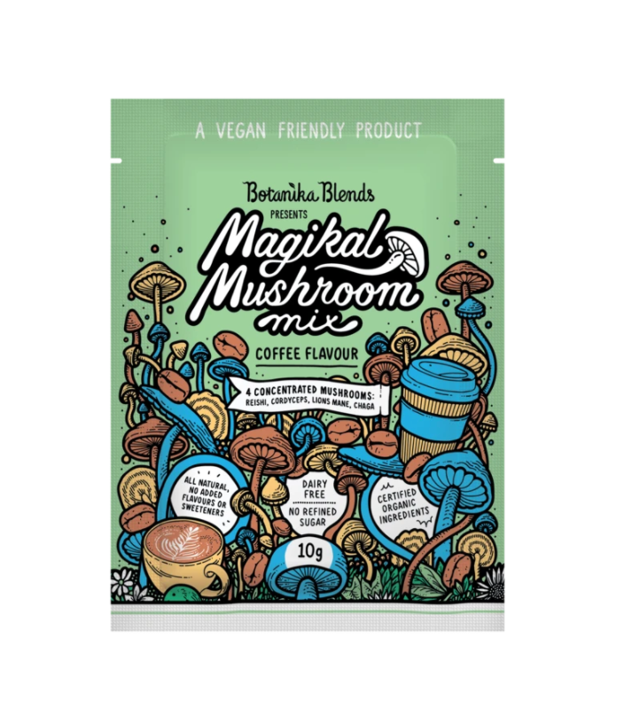 Botanika Blends Magikal Mushroom Mix 10g Or 300g Coffee Flavour