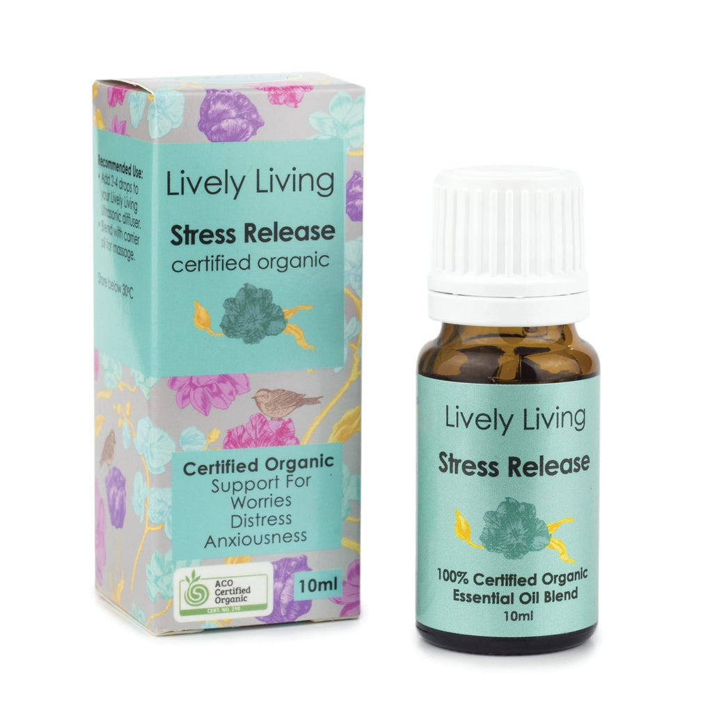 Lively Living Stress Release Organic Essential Oil Blend 10ml