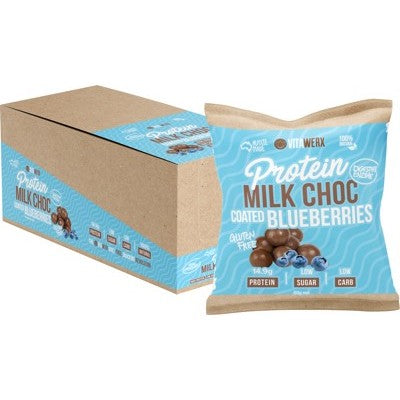 Vitawerx Protein Milk Chocolate Coated Blueberries 60g or Box of 10