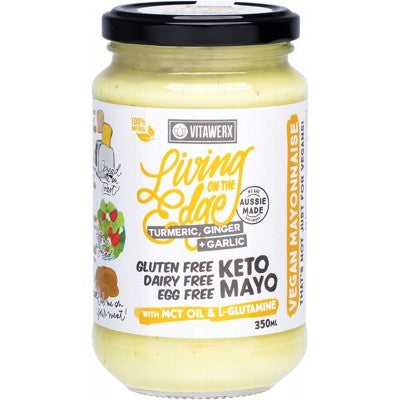Vitawerx Keto Mayo - Living On The Edge Turmeric, Ginger & Garlic 350ml