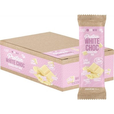 Vitawerx Protein White Chocolate Bar Quinoa Puff 35g or Box of 12