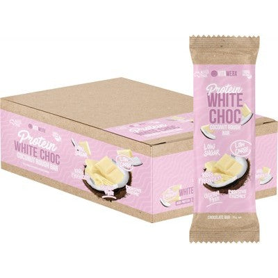 Vitawerx Protein White Chocolate Bar Coconut Rough 35g or Box of 12