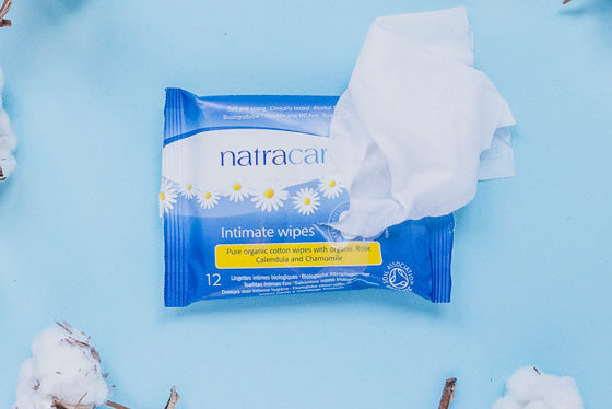 Natracare Intimate Wipes 100% Organic Cotton