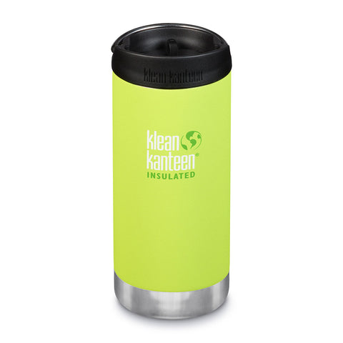 Klean Kanteen TKWide With Cafe Cap 12oz (355ml), Insulated (11 Hrs Hot, 38 Hrs Iced)