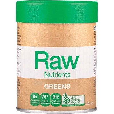Amazonia Raw Nutrients Greens 120g, 300g Or 600g Mint & Vanilla Flavour