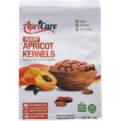 Apricare Apricot Kernels Raw Various Quantities