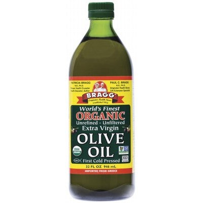 Bragg Olive Oil (Extra Virgin) Unrefined & Unfiltered Various Quantities